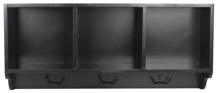 Kelling Black Wall Shelf with Storage Compartments
