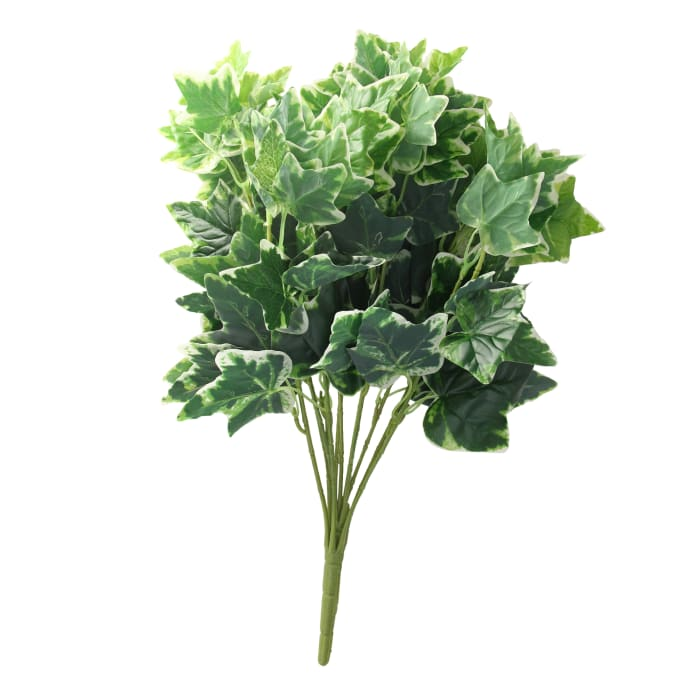 Decorative Artificial Two Tone Green & White Sweet Potato Spring Floral Bush