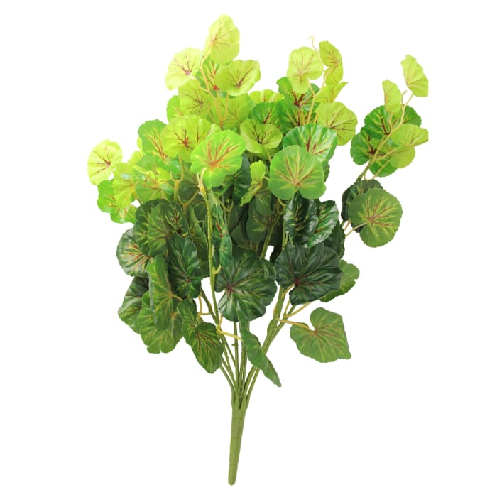 Decorative Artificial Two Tone Green Begonia Spring Floral Bush