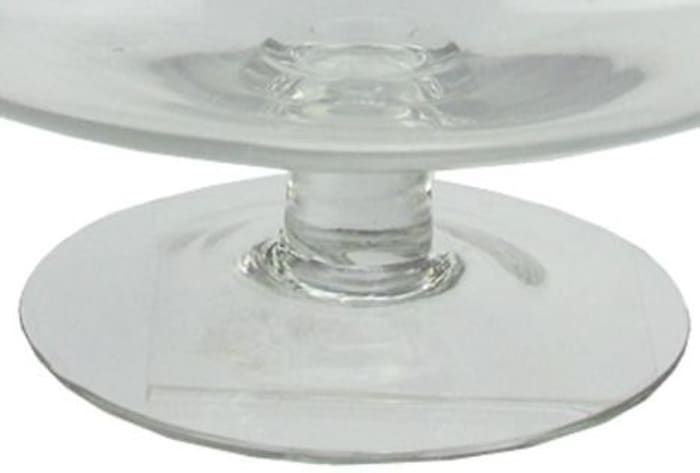 Round Glass Jar with Finial Topped Lid