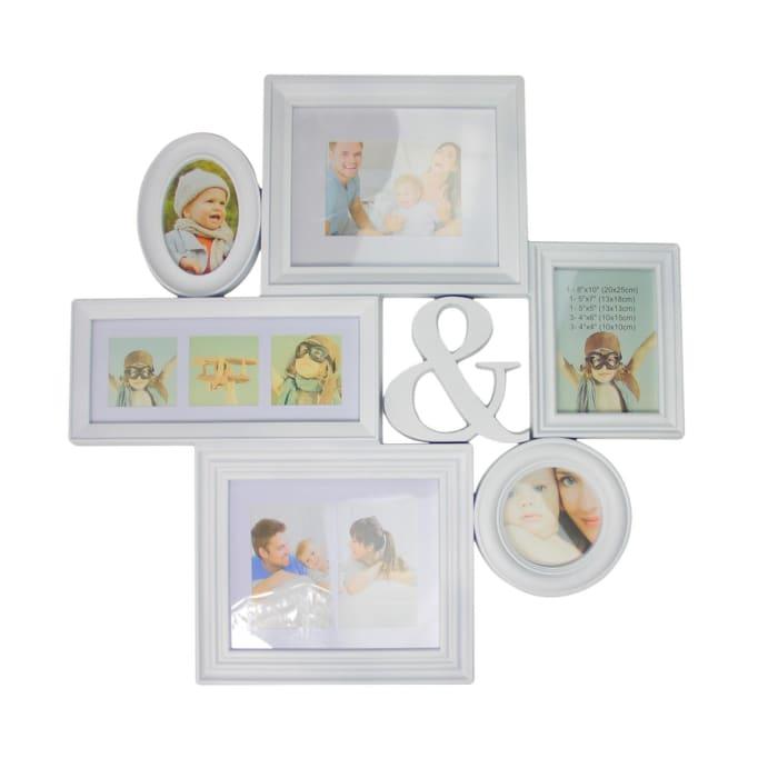 White Multi-Sized Photo Collage Frame