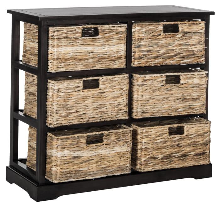 Brayden Black 6 Basket Storage Chest
