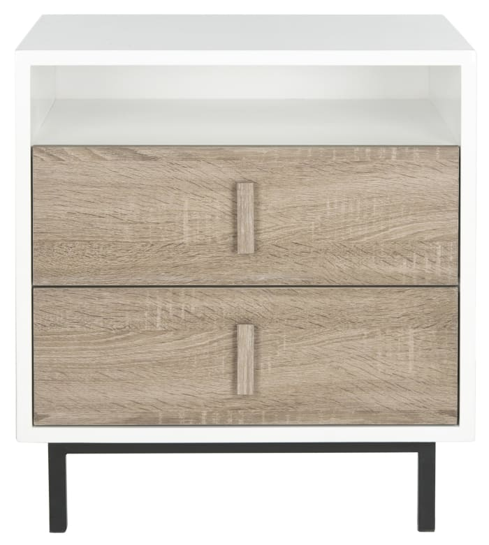 White Gianna Two Drawer Cabinet