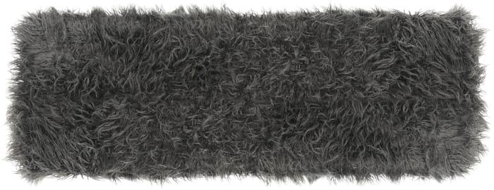 Delia Gray Faux Sheepskin Bench