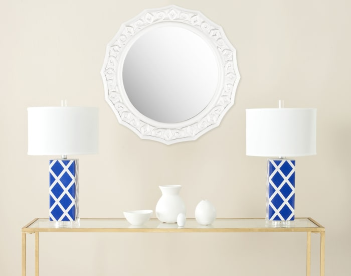 Jeremy White Wood & Glass Mirror