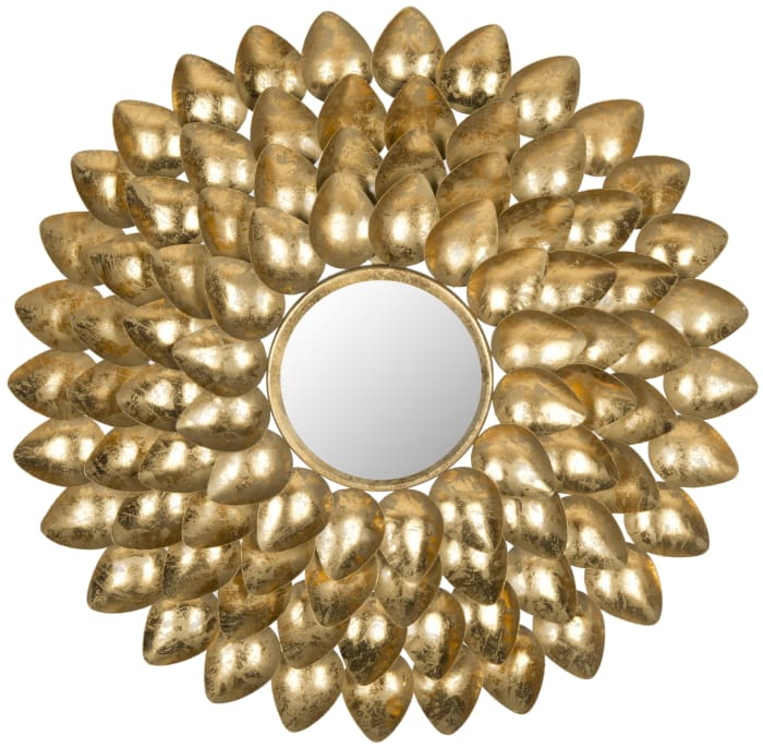 Dylan Gold Iron & Glass Mirror