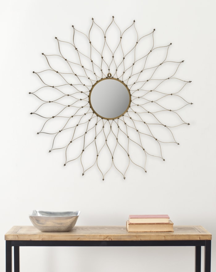 Jasmine Gold Iron & Glass Mirror