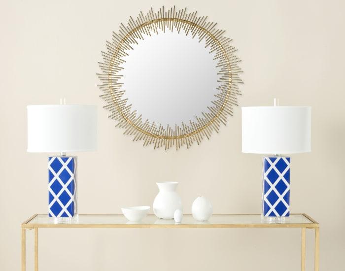 Lindsey Gold Iron & Glass Mirror