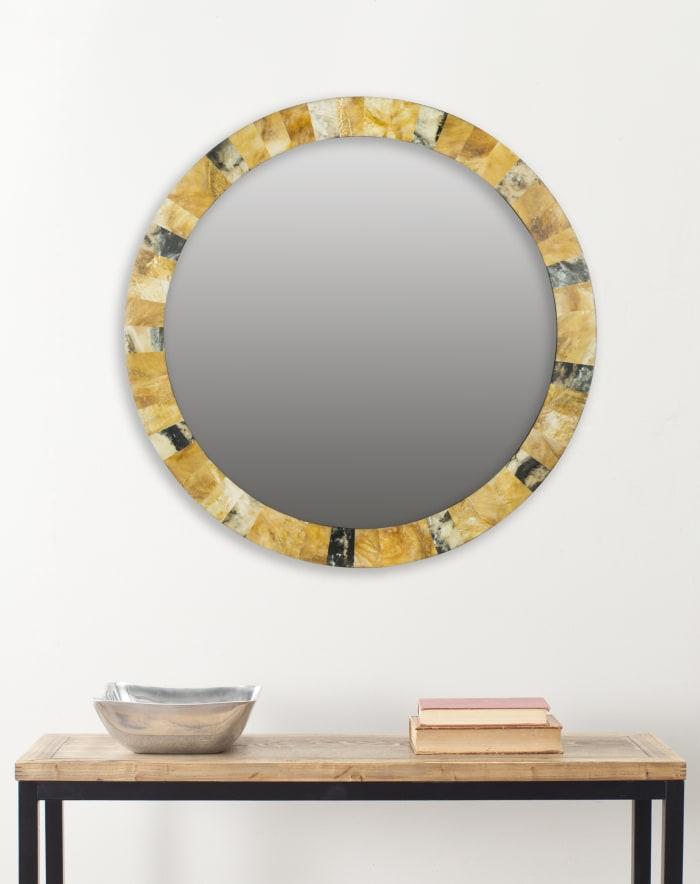 Nellie Multicolored Resin & Glass Mirror