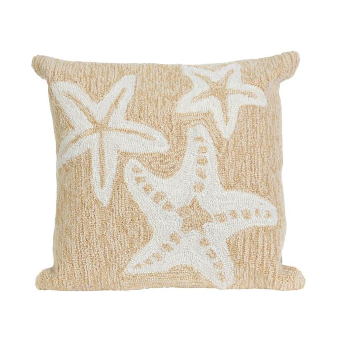 Natural Starfish Outdoor Pillow
