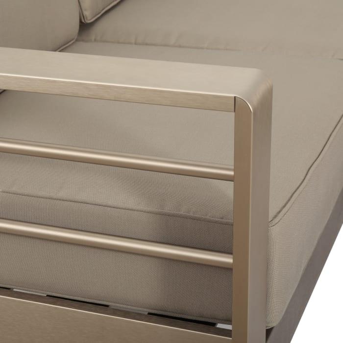 Aluminum Sofa Set with Cushions