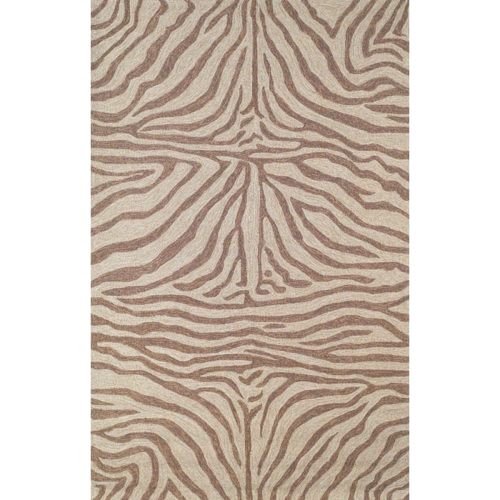 Brown Zebra Rug 8' x 10'