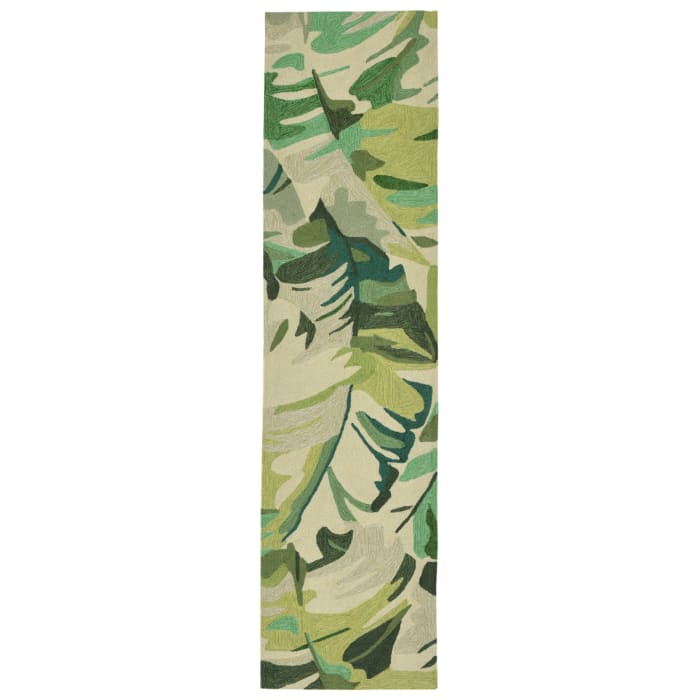 Green Palm Leaf 2.5' x 9' Runner