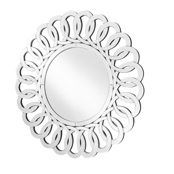 Contemporary Clear Round Mirror
