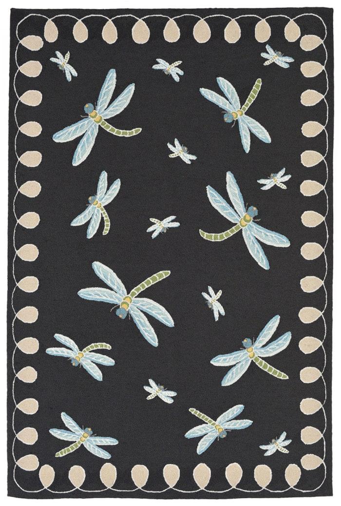 Dragonfly Black 3' x 5' Rug
