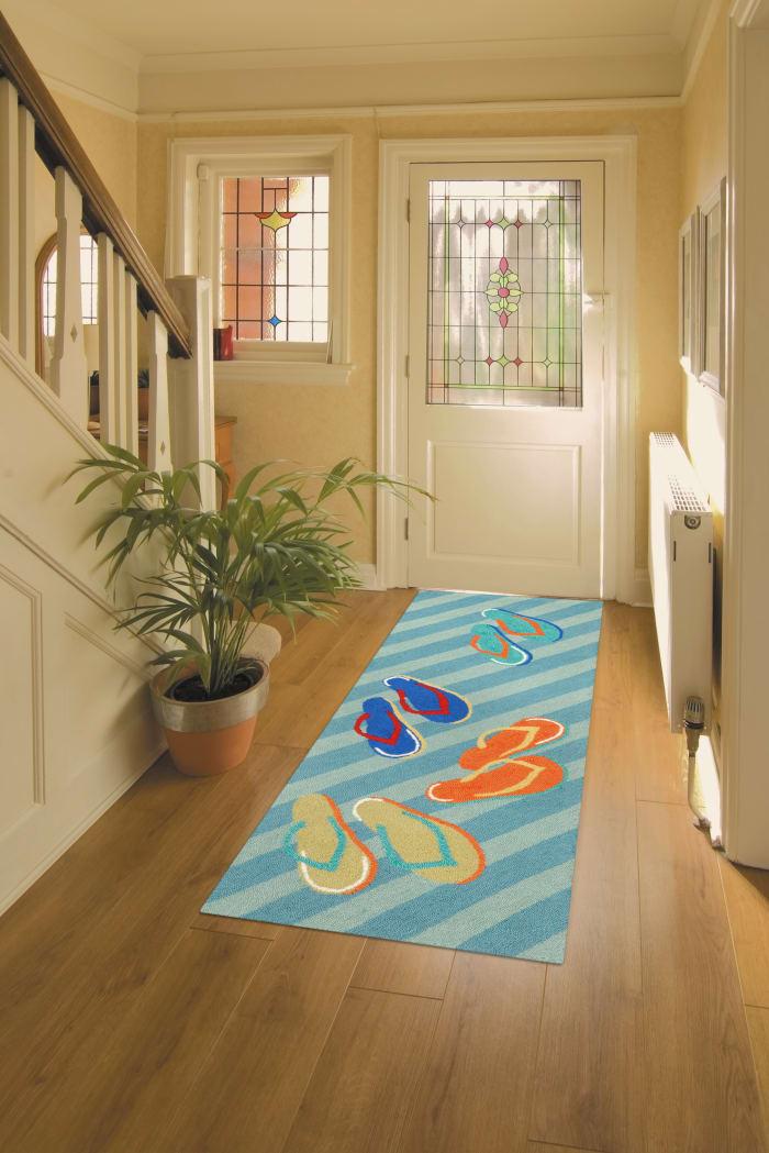 Flip Flops Blue 3' x 5' Rug