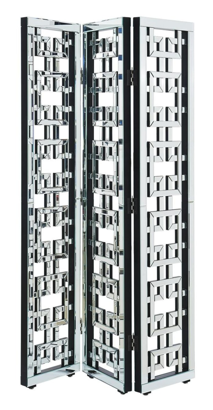 Mirrored Silver Room Divider