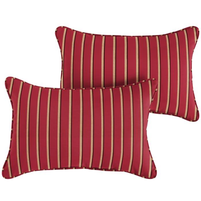 Sunbrella Corded in Harwood Crimson Set of 2 Outdoor Pillow