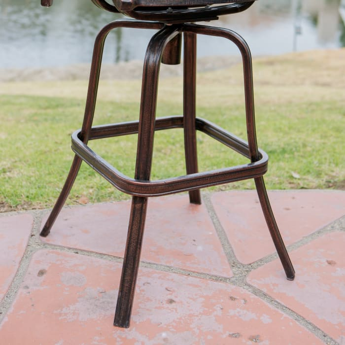 Brown Cast Aluminum Barstools Set of 2