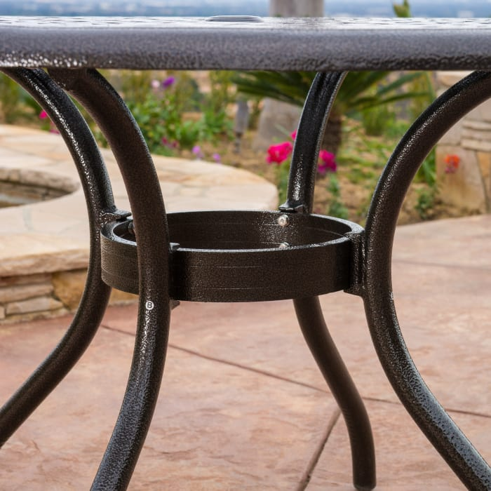 Bronze Cast Aluminum 5-Piece Dining Set