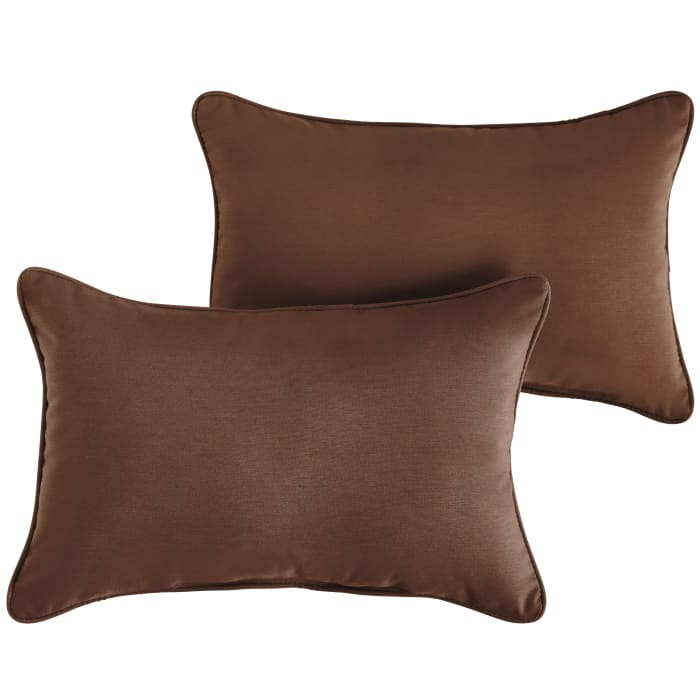 Sunbrella Corded Set of 2 in Canvas Bay Brown Outdoor Pillow