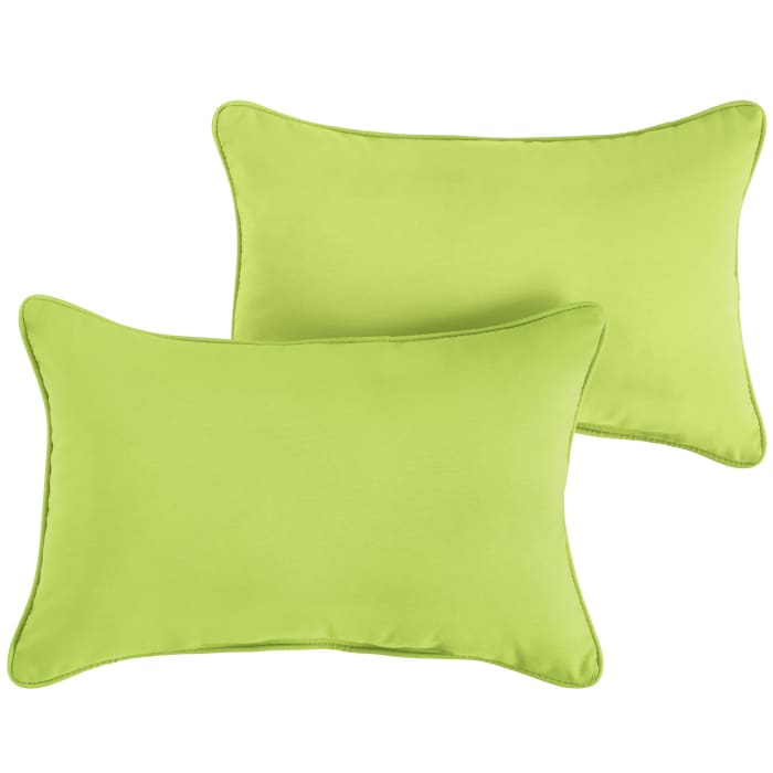 Sunbrella Corded Set of 2 in Canvas Macaw Outdoor Pillow