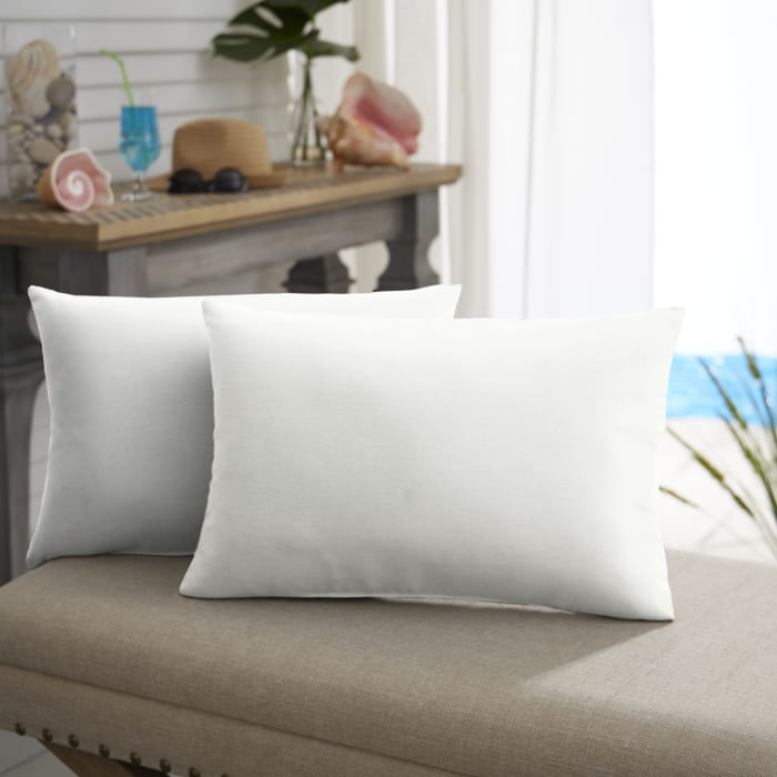 Sunbrella Knife Edge Set of 2 in Canvas Natural Outdoor Pillow
