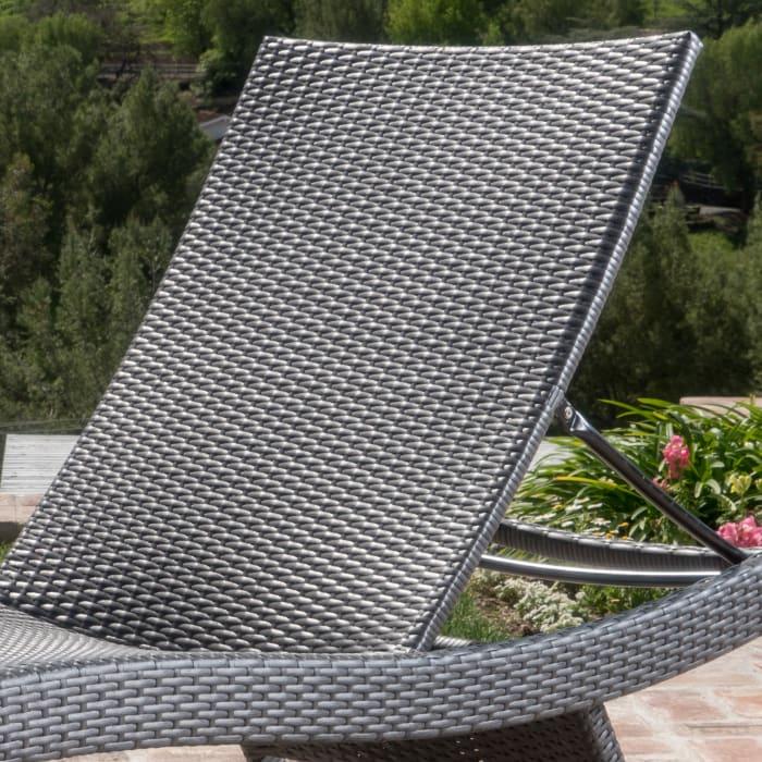 Gray Chaise Lounge 3-Piece Set