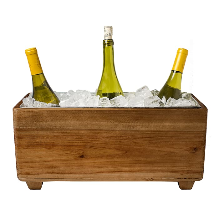 Cathy's Concepts Wooden Wine Trough
