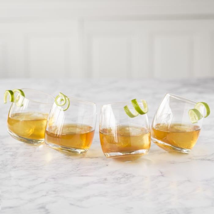 7oz Tipsy Whiskey Glasses Set of 4