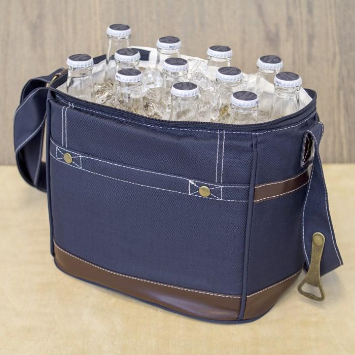Navy 12-Pack Beer Bottle Cooler