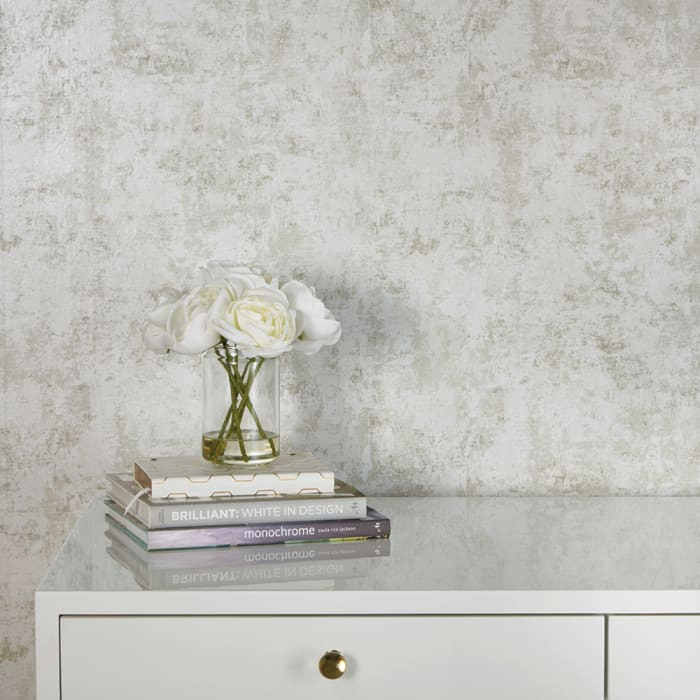 Distressed Gold Leaf Self-Adhesive Removable Wallpaper