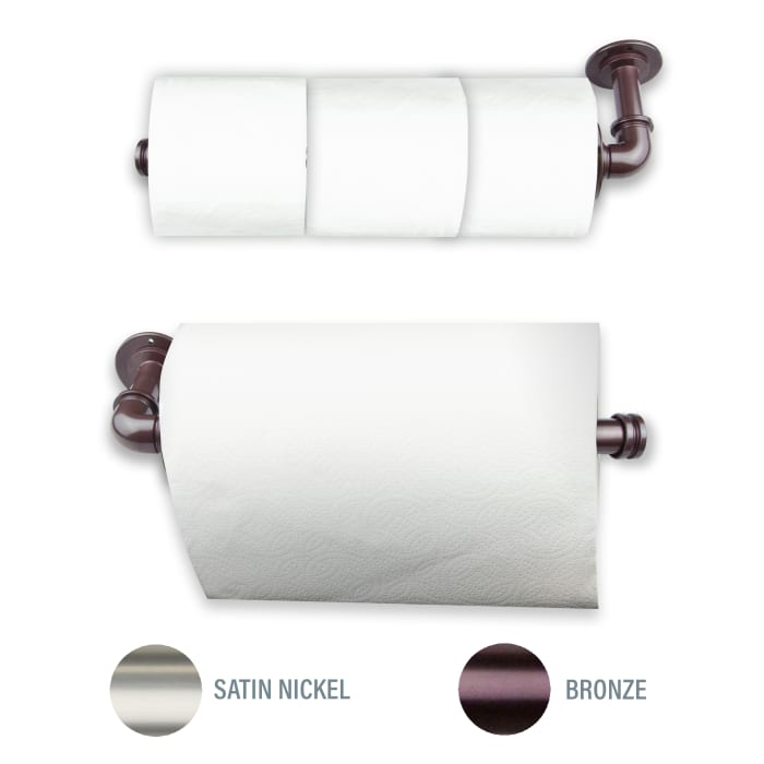 Industrial Bronze Toilet Paper or Kitchen Towel Holder