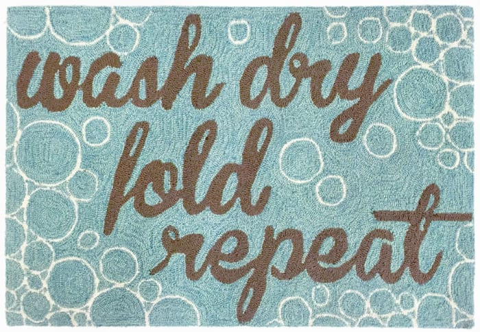 Wash Dry Fold & Repeat Blue 1'75