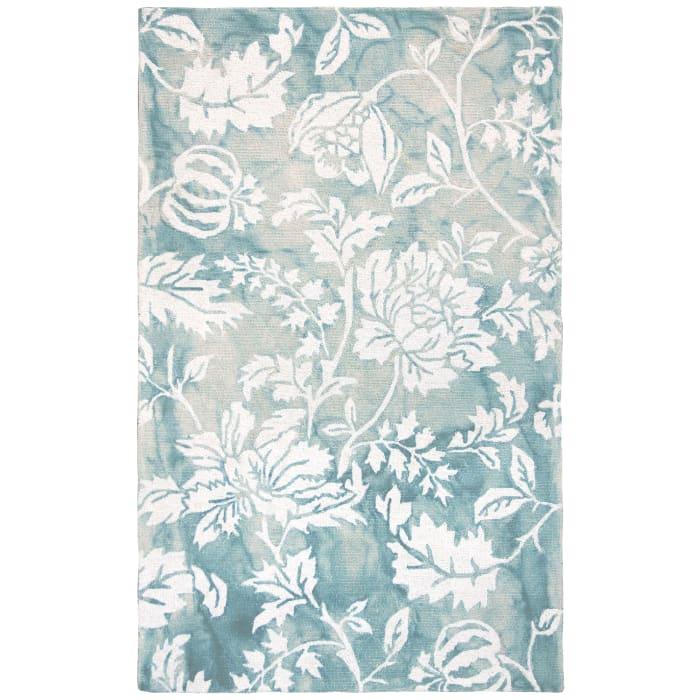 Floral Blue Runner 2'3
