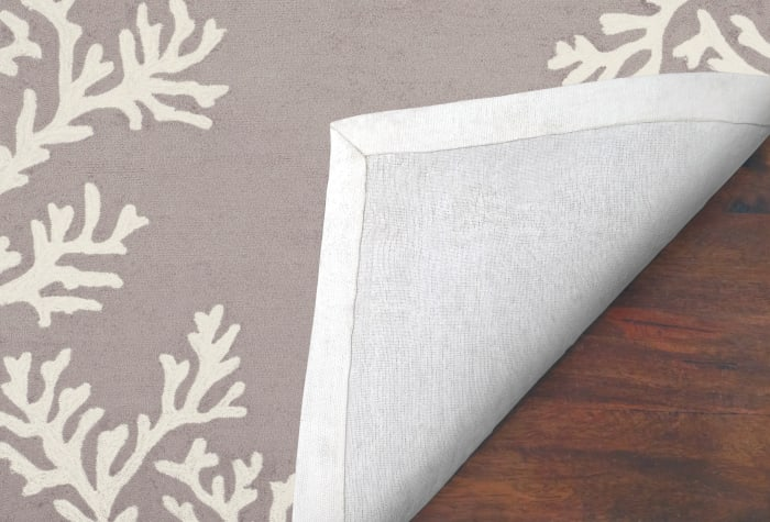 Coral Border Silver Runner 2' x 8'