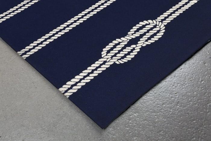Navy Ropes Rug 2' x 5'