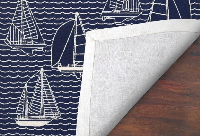 Sails Navy Rug 7'5