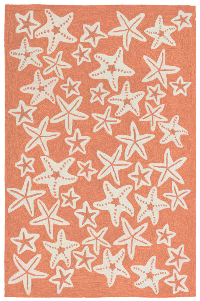 Starfish Orange Rug 5' x 7'5
