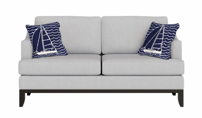 Front Porch Sails in Navy Polyester Outdoor Pillow