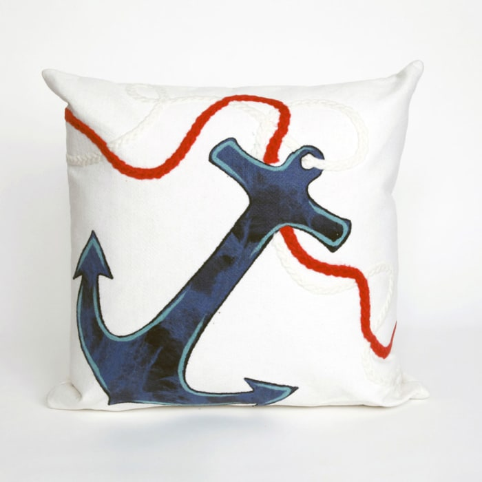 Anchor in White Pillow