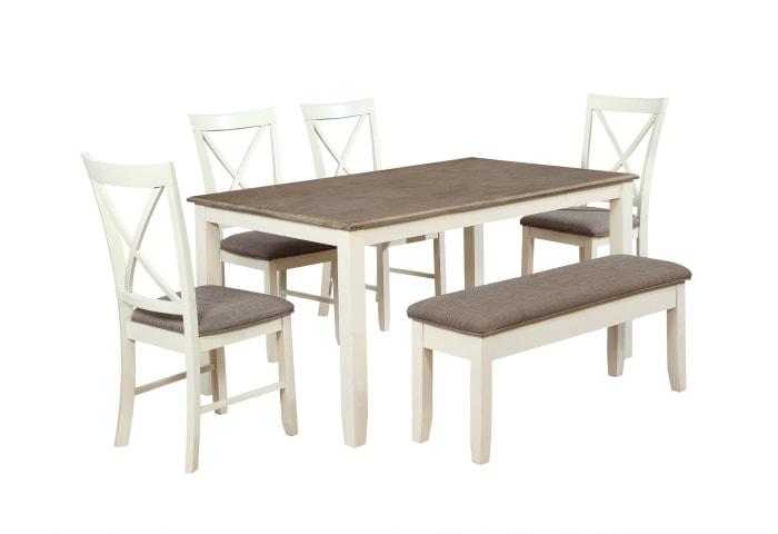 White 6-Piece Dining Set