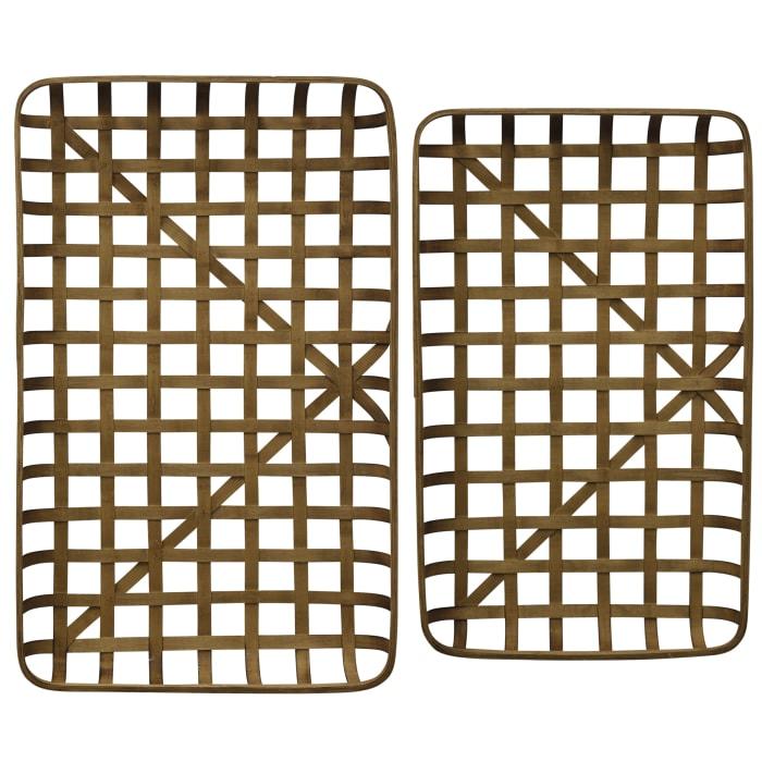 Paracel Natural Bamboo Trays Set of 2