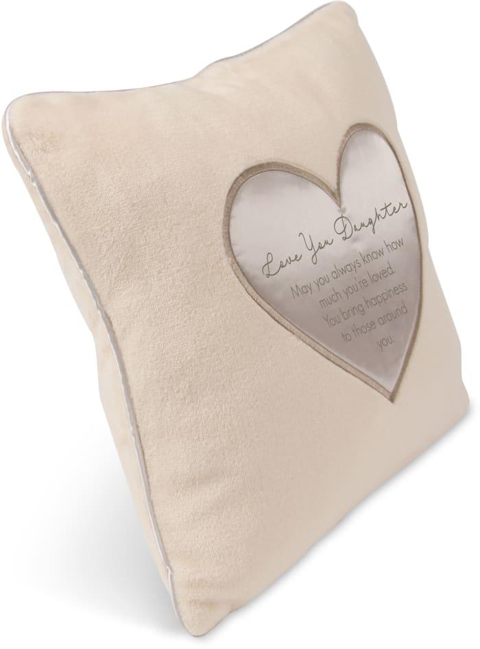 Love You Daughter Plush Pillow