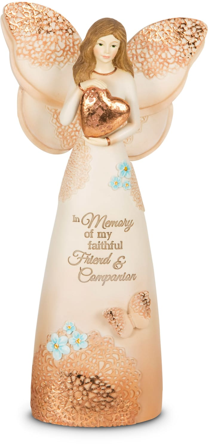 Faithful Friend Memorial Angel Figurine