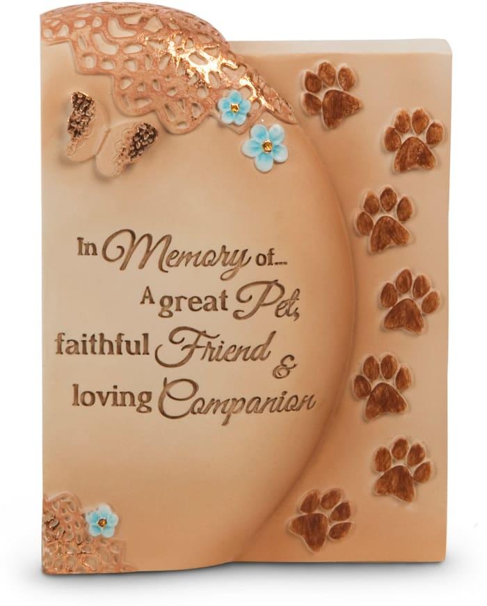 Faithful Friend Pet Memorial Plaque