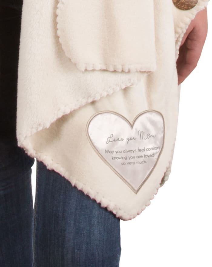 Love You Mom Plush Comfort Shawl