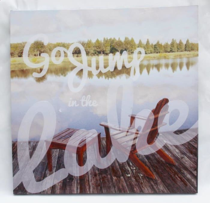 Jump in The Lake Canvas Wall Art