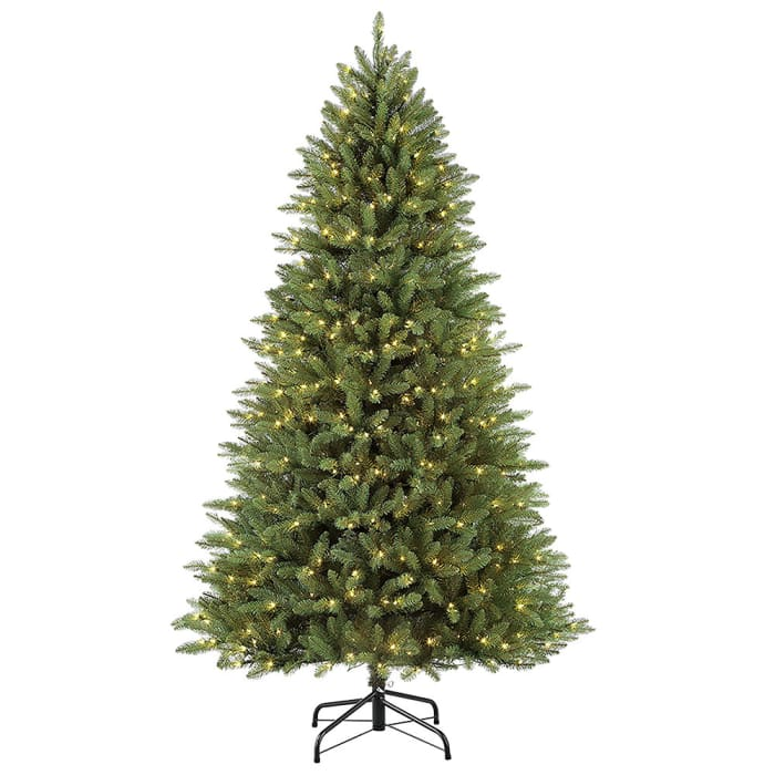 7.5' Pre-Lit Slim Fraser Fir Artificial Christmas Tree