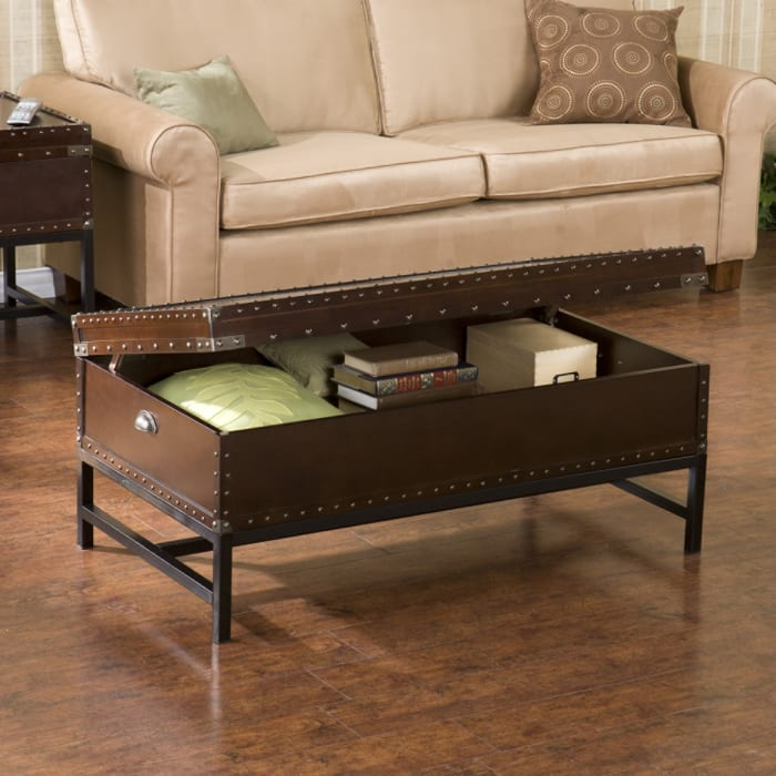Explorer Espresso Storage Coffee Table